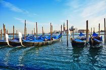 Gondolas and San Giorgio maggiore in Venice von Tanja Krstevska