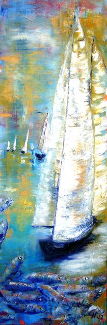 Segelstimmung in Öl gemalt by Christine  Hamm