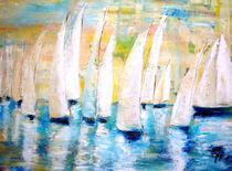 Segler in Öl gemalt von Christine  Hamm