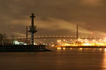 Köhlbrandbrücke bei Nacht von alsterimages