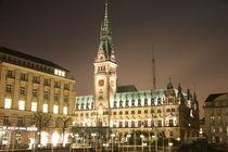 Rathaus Hamburg bei Nacht von alsterimages