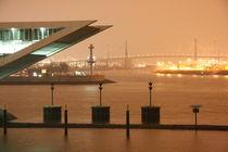 Dockland und Köhlbrandbrücke bei Nacht von alsterimages