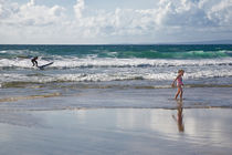 Little girl on the beach of Fanore, County Clare, Ireland by kbhsphoto