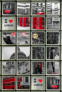 I Love London collage von David J French