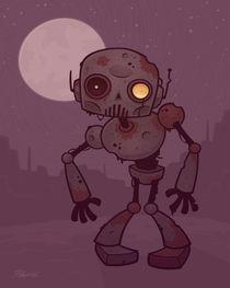 Rusty Zombie Robot von John Schwegel