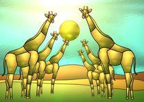 Giraffenparade von Hildegard Maria Endner