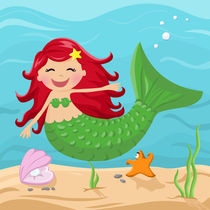Meerjungfrau lachend von Michaela Heimlich