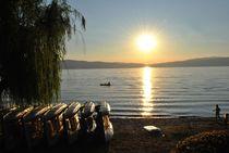Sunset over Ohrid Lake by Oliver Noveski
