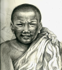 """PROTECT OUR CHILDREN"" Series - Tibet (""young Lama monks"") by Priscilla Tang"
