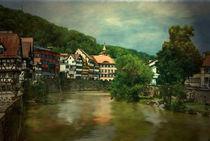Alte Stadt am Fluß von Marie Luise Strohmenger