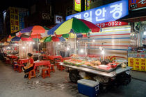 Night Street Food Market Stalls by Tom Hanslien