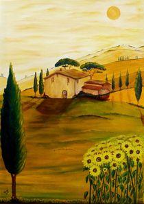 Sonnenblumen in der Toskana by Christine Huwer