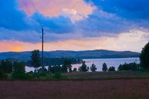 View over lake Gunnern, Varmland, Sweden. by kbhsphoto