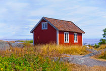 The small chapel on the island of Svartloga in the Archipelago of Stockholm, Sweden. by kbhsphoto