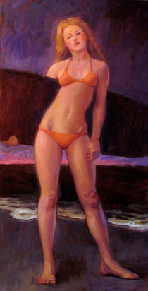 Orange Bikini by John deLorimier