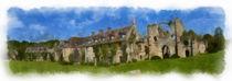 Abbaye du Vaux de Cernay 1 aquarelle von Wessel Woortman