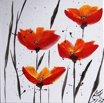 Acrylbild Mohnblumen von Anke Franikowski