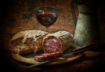 Still life with salami and sourdough von Dave Milnes