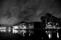 the night river embankment in St. Petersburg, Russia by yulia-dubovikova