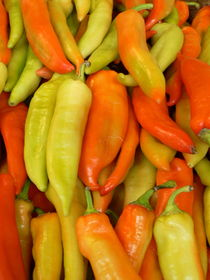 Colorful pepper - Great Market Hall Budapest by Silke Berz