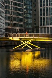 West India Quay Jogger von travelingjournalist