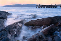 Portencross jetty Sunset by Paul messenger