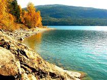 Herbst am Seeufer von Jutta Ploessner