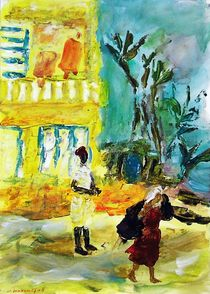 The woman carries all Monastir by Gabriella  Cleuren