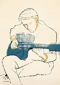Blaue Gitarre von kustom-kards
