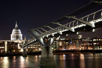 St Paul's & Millennium Bridge by Thamer Al-Hassan