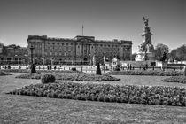 Buckingham Palace black and white