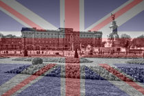 Buckingham Palace Union Jack Flag von David J French