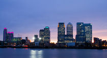 Docklands Canary Wharf sunset  by David J French