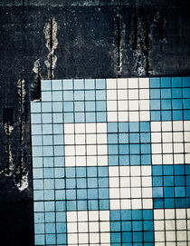 Old wall with tiles by Lars Hallstrom