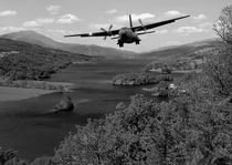 Flying along Loch Tummel by Sam Smith