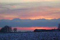 Snowy Sunset  von Sarah Osterman
