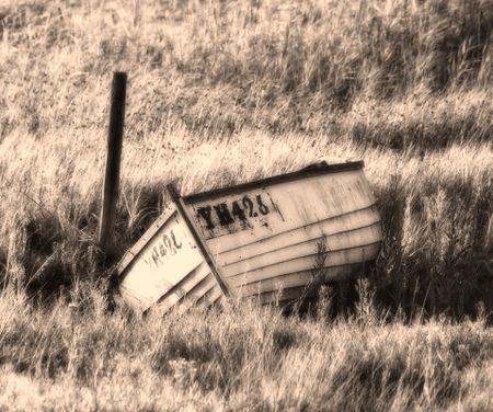 Boat-in-grass