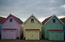 Mersea Beach Huts  by Nigel  Bangert