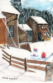 Country Winter von Sandra Woods