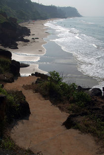 Steps Down to the Beach Varkala by serenityphotography