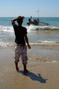 Watching-the-boat-leave-palolem-beach