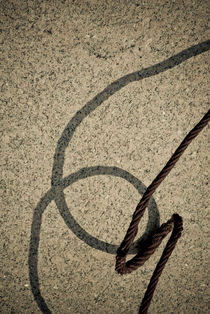 Wire and shadow by Lars Hallstrom