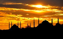 Hagia Sofia and Blue Mosque by vabs erk