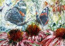Butterflies On A Flowering Shrub by florin