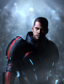 Mass Effect: commander Shepard by Anna Khlystova