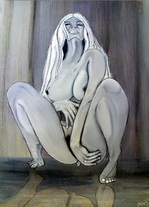 Nude crouching by Mark Shearman