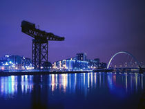 The River Clyde At Night. by Amanda Finan
