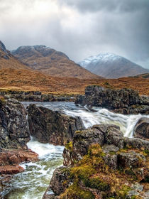 Winter Over The River Etive by Amanda Finan