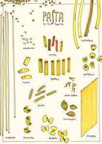 Pasta Poster by Rán Flygenring