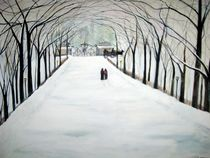 The Silent Snowfall Walk / Central Park NYC  von Rick Todaro
